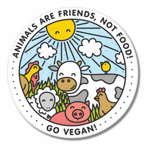 vegan sticker friends-not-food