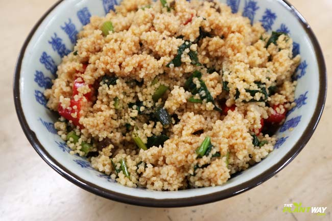 couscous-recipe-onion-pepper-spinach